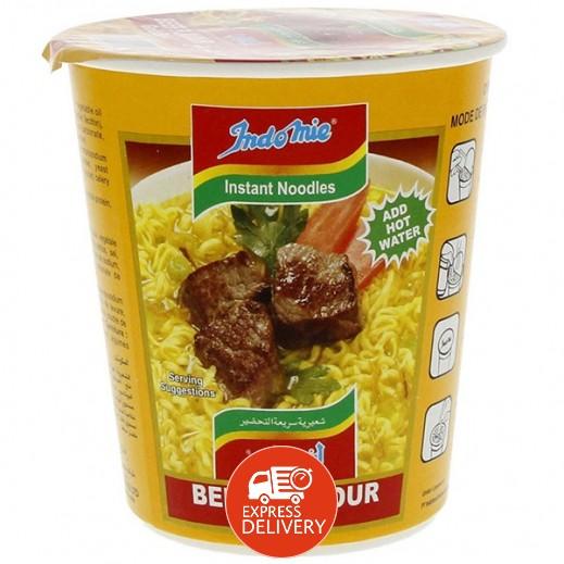 إندومي – شعيرية سريعة التحضير بنكهة البيف - كوب 60 جم