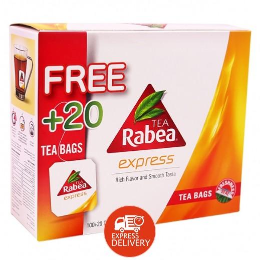 ربيع - شاي إكسبرس 100 كيس + 20 كيس مجاناً