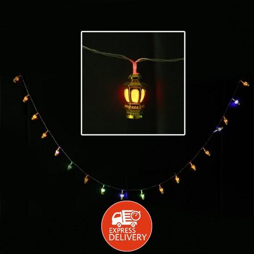 عنابي - ديكورات رمضانية مضيئة بتصميم فانوس صغير