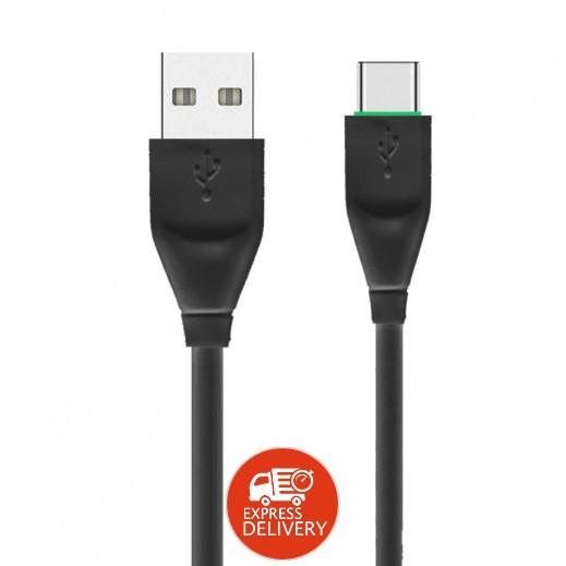 ديبري – كيبل USB Type-C طول 1.2 م 3.1 امبير –  اسود