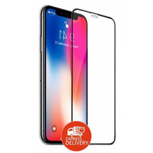 هوكو - حماية شاشة زجاجي لآي فون X – اسود