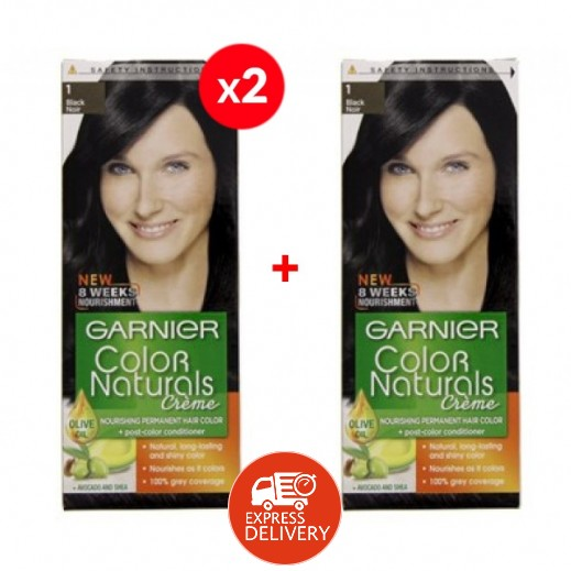 غارنيية - صبغة طبيعية Color Naturals رقم 1 لون اسود نوار (2+1 مجانا)