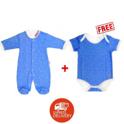 بيبي جلو – بدلة النوم الذكية للأولاد (3-6 شهور) + بيبي جلو – بدلة الخروج الذكية للأولاد (3-6 شهور)