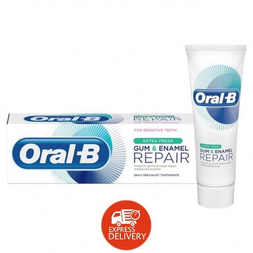 أورال بي – معجون ترميم اللثة ومينا الأسنان انتعاش اضافي 75 مل