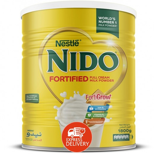 نيدو - حليب مُجفف مُدعم 1800 جم