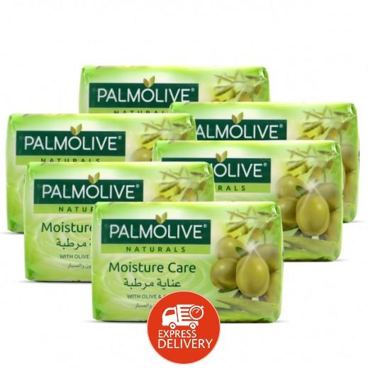 بالموليڤ – صابون متوازن وناعم بخلاصة الألوفيرا وزيت الزيتون 6 × 120 جم