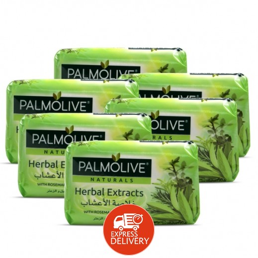 بالموليڤ – صابون بخلاصة الأعشاب الطبيعية 6 × 120 جم