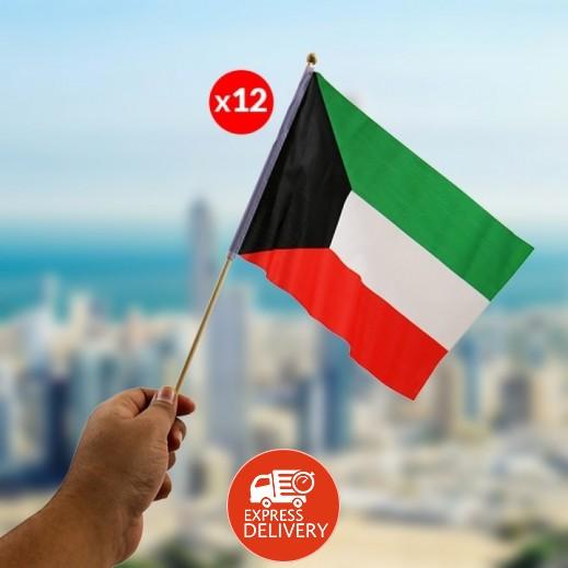 علم الكويت - 12 حبة 30 × 20 سم