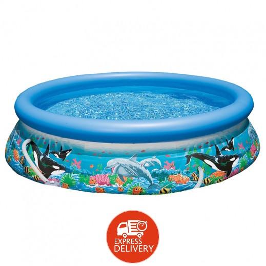 إنتكس - حمام سباحة مزخرف بشعاب المحيط 10 قدم × 30 إنش