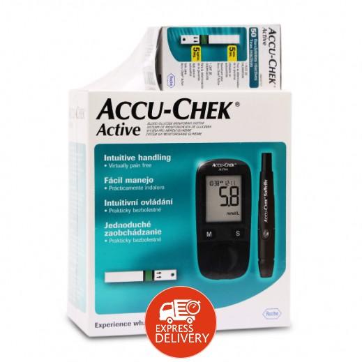 اشتري أكيوتشيك أكتيف جهاز قياس نسبة السكر في الدم 50