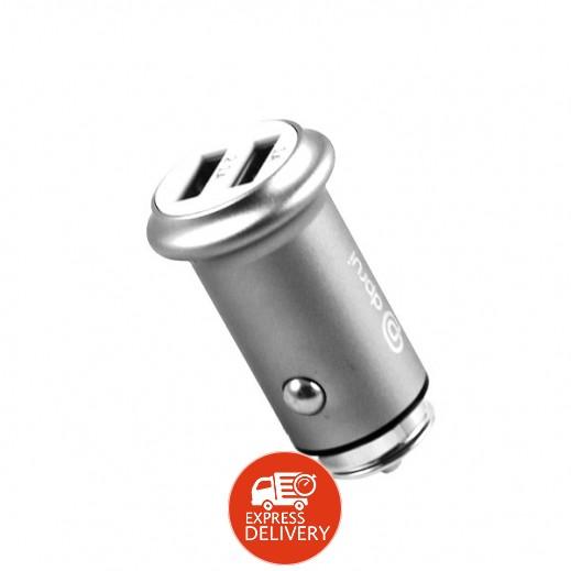 ديبري – شاحن سيارة 2 منفذ USB قوة 3.1 امبير – رمادي