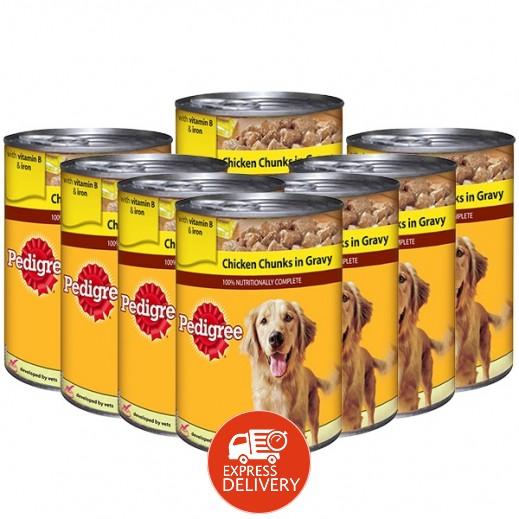 بيديغري - طعام الكلاب مع قطع الدجاج في المرق 400 جم (8 حبة)