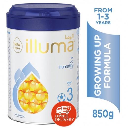 إلوما –  حليب لنمو الأطفال (المرحلة الثالثة) 850 جم (من 1-3) سنوات