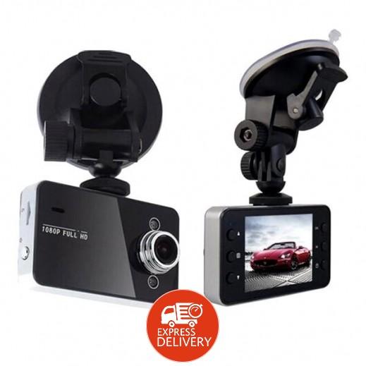 بلاك بوكس – كاميرا تسجيل فيديو DVR للسيارة مع شاشة TFT LCD قياس 2.5 بوصة – أسود