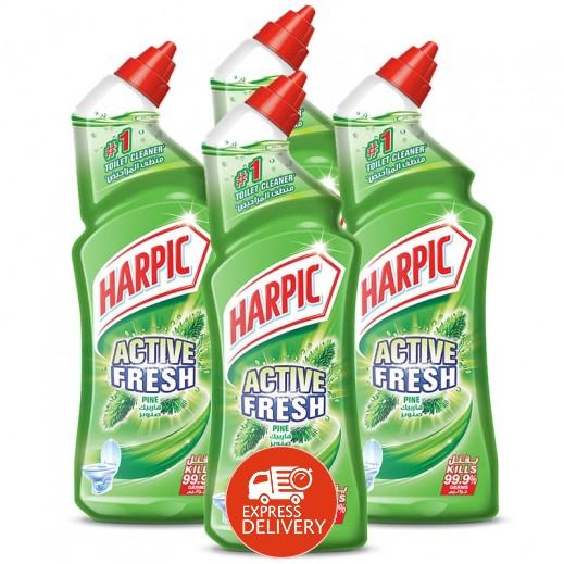 """هاربيك – منظف الحمام """" صنوبر """" 1 لتر ( 4 حبة ) - عرض التوفير"""