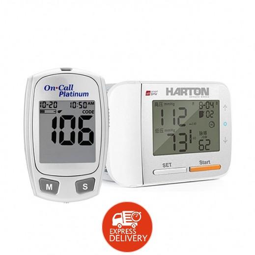 هارتون - جهاز قياس ضغط الدم من الرسغ موديل YE8900 + جهاز قياس ضغط الدم بلاتنيوم من أون كول