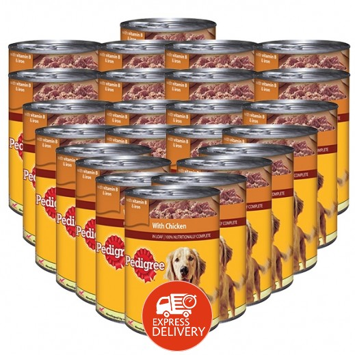 بيديغري - طعام الكلاب مع الدجاج 400 جم (24 حبة) - أسعار الجملة