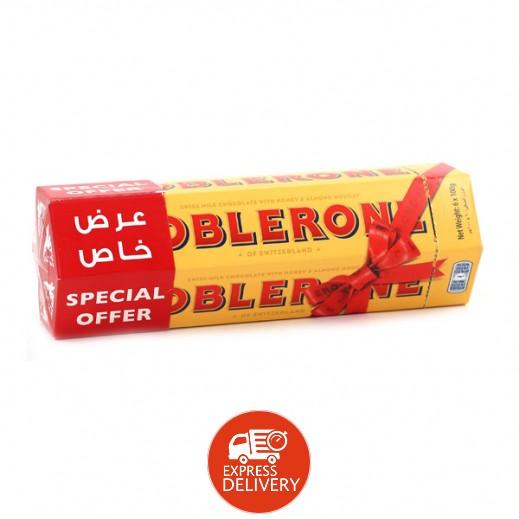 توبليرون - شوكولاتة الحليب بالعسل واللوز 6 حبة ×100 جم