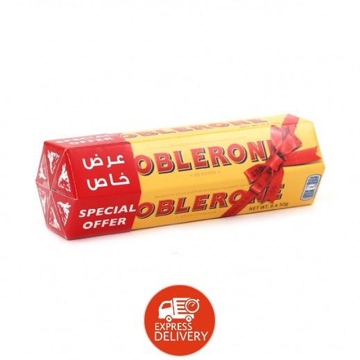 توبليرون - شوكولاتة الحليب بالعسل واللوز 6 حبة ×50 جم