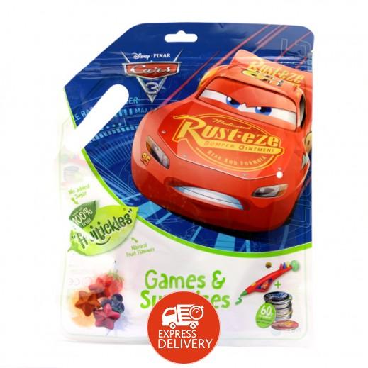 ديزني – حلوى الفواكة المطاطية مع ألعاب بتصميم السيارات 10 جم