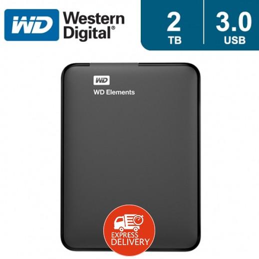 """ويسترن ديجتال – هارد ديسك """"Element"""" سعة 2 تيرابايت USB 3.0 – أسود"""
