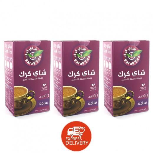 كرك - شاي سادة سريع التحضير 10 أكياس × 20 جم (3 حبة) – أسعار الجملة