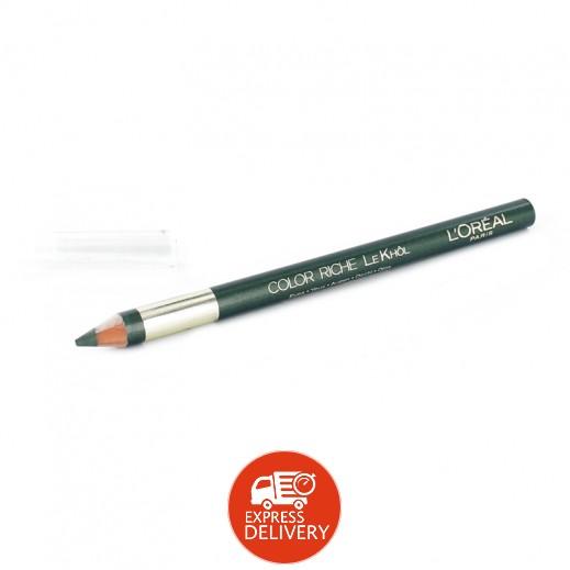 """لوريال – قلم كحل """" كلر ريتش """" – أخضر مليتري"""