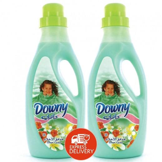 """داوني – منعم الأقمشة الأخضر """" حدائق الأحلام """" 2 حبة × 2 لتر"""