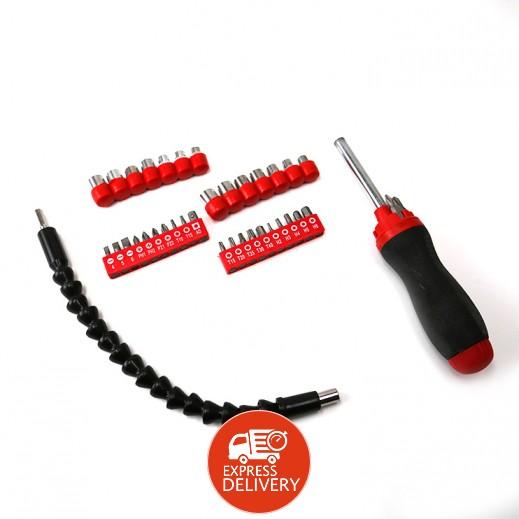 Euro Mate ScrewDriver Sets (Bits + Sockets) 44 Pcs