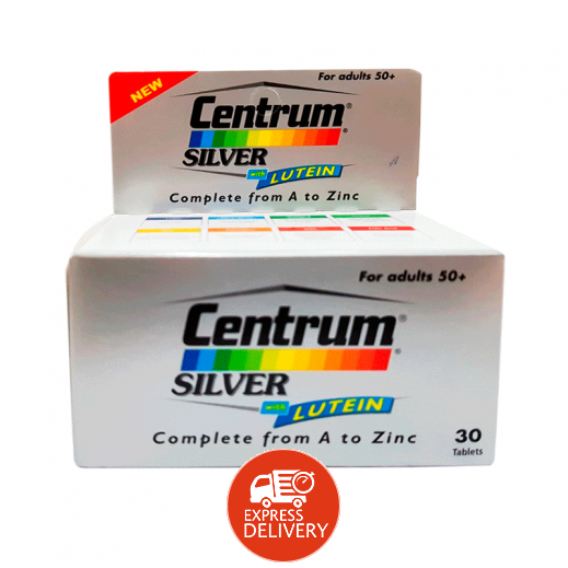 Centrum Silver Complete From A to Z Multivitamin 30 Tablets (For Adults 50 + Years)