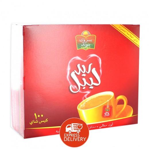بروك بوند - شاي ريد ليبل 100 كيس
