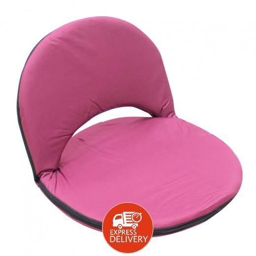 مقعد أرضي بظهر قابل للتعديل - وردي