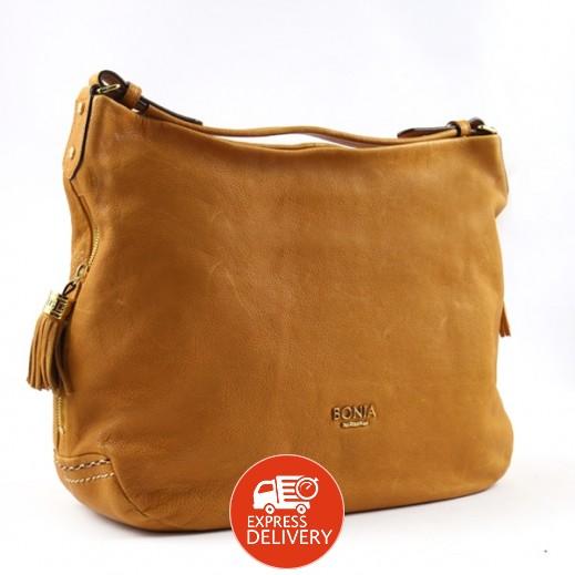 بونيا - حقيبة يد جلدية للسيدات - أصفر داكن
