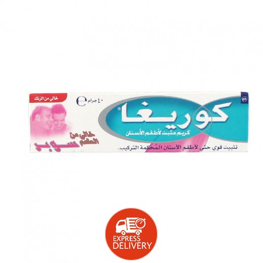 Corega Denture Fixative Cream Super Taste Free 40gm