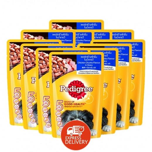 بيدجري – طعام الكلاب البالغة بنكهة الدجاج 12×130 جم