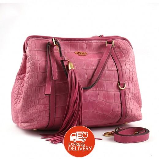 بونيا - حقيبة يد جلدية للسيدات - فوشيا