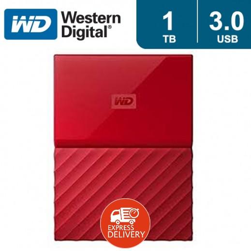 """ويسترن ديجتال – هارد ديسك """"My Passport"""" سعة 1 تيرابايت USB 3.0 – أحمر"""