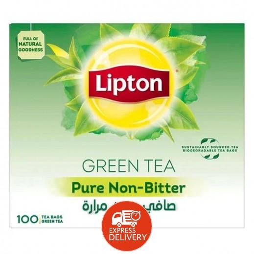 ليبتون - شاي أخضر صافي بدون مرارة 100 كيس