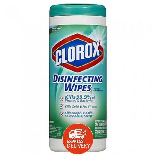 كلوركس – مناديل معقمة للتنظيف برائحة الانتعاش - 35 منديل