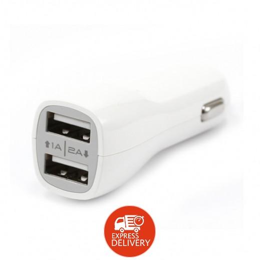 ساداد - شاحن سيارة 2 منفذ USB – ابيض