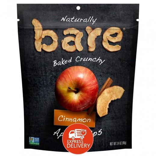 ناتشرالي - شيبس التفاح بالقرفة المخبوز الطبيعي خالي من الجلوتين 96 جم