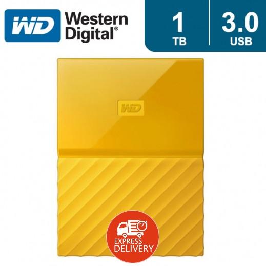"""ويسترن ديجتال – هارد ديسك """"My Passport"""" سعة 1 تيرابايت USB 3.0 – أصفر"""