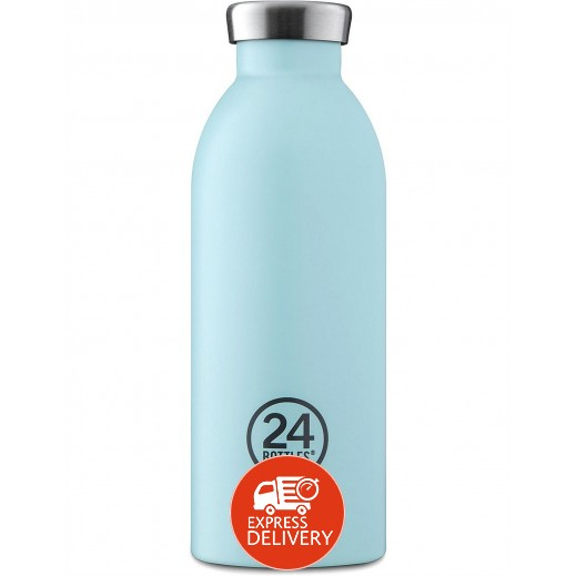 24 بوتلز - زجاجه مشروبات كليما الحرارية - أزرق فاتح 500 مل