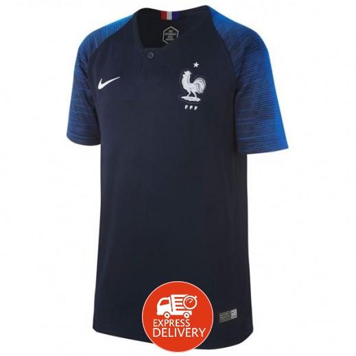 نايك - تى شيرت منتخب فرنسا 2018 لكرة القدم – مقاس شبابي 128-164 سم