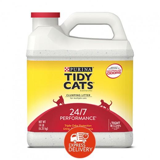 تايدي كاتس – تراب فضلات القطط  بفاعلية 24/7 - 6.35 كجم