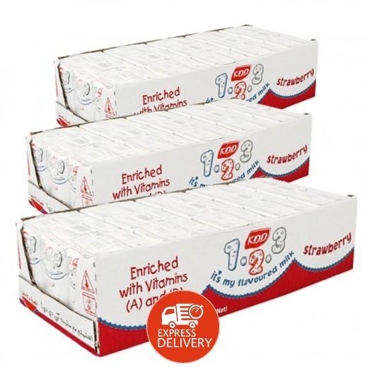 كى دى دى – حليب بنكهة الفراولة 125 مل ( 3 كرتون × 30 حبة ) -  أسعار الجملة