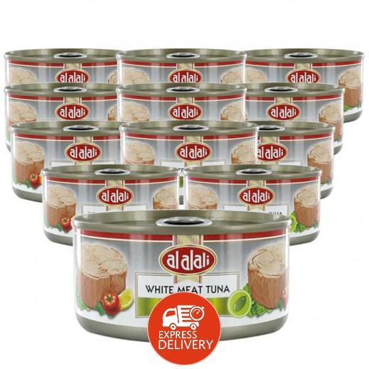 العلالي - لحم تونة أبيض في زيت الزيتون 170 جم (12 حبة) - أسعار الجملة
