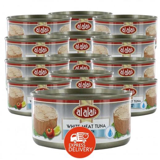 العلالي - لحم تونة أبيض في ماء 170 جم (12 حبة) - أسعار الجملة