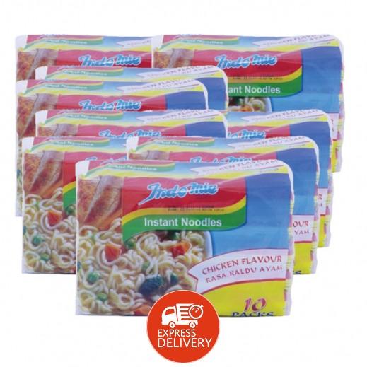 إندومي – شعيرية سريعة التحضير بنكهة الدجاج 75 جم ( 4 كرتون × 10 حبة ) - أسعار الجملة
