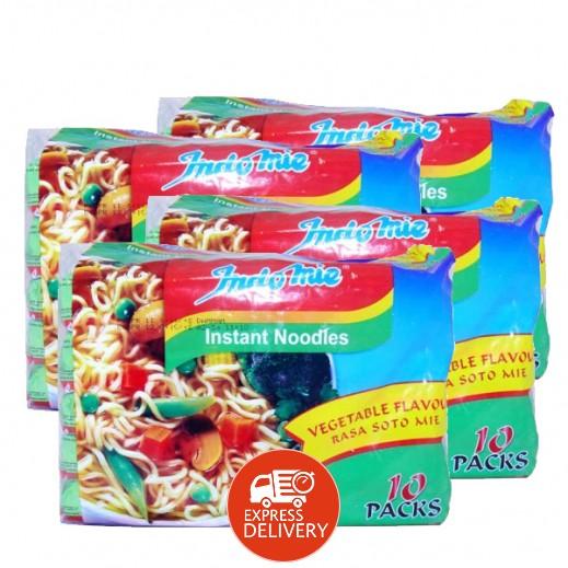 إندومي – شعيرية سريعة التحضير بنكهة الخضروات 75 جم × 40 حبة